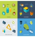 Garbage Isometric Set vector image vector image
