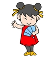 girl character Chinese vector image vector image