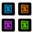 glowing neon bio fuel barrel line icon isolated vector image vector image