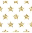 Gold foil shimmer glitter star seamless pattern vector image vector image