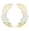 Golden olive branches vector image