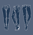 Hand drawn fashion design mens jeans vector image vector image