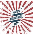 happy memorial day ribbon and text vector image