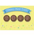 Happy New Year 2017 Chocolate cookies vector image vector image