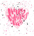 Happy valentines day love concept hand lettering vector image vector image