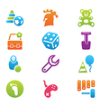 icon set children toys and games vector image vector image