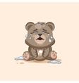 isolated Emoji character cartoon Bear crying lot vector image