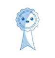 kawaii rosette certificate cartoon design vector image