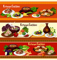korean cuisine dishes spicy asian food vector image vector image