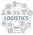 logistics linear slide for the vector image vector image