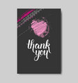 love card hand drawn lettering doodle design vector image