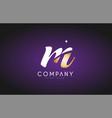 m alphabet letter gold golden logo icon design vector image vector image