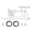 machine-building drawings on a white background vector image vector image