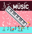 music party background with piano keyboard notes vector image vector image