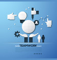 paper concept of teamwork team building global vector image