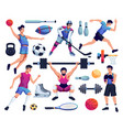 people involved in sport set vector image