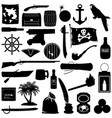 pirate pictograph vector image vector image