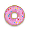 realistic donut isolated vector image vector image