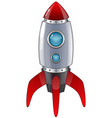 rocket launch cartoon vector image vector image