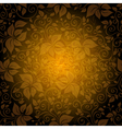 Seamless gold floral pattern vector image vector image