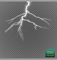 set of lightnings thunder-storm and lightnings vector image