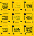 Set of motivational quotes about enthusiasm vector image vector image