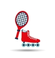 skate isolated design vector image vector image