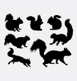 Squirrel animal silhouettes vector image vector image