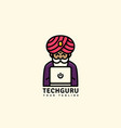 tech guru logo vector image vector image