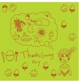 Thanksgiving for kids in doodle vector image vector image