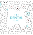 tooths on a white background vector image