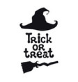 trick or treat halloween theme handdrawn vector image vector image