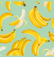 tropical banana seamless background exotic vector image