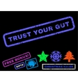 Trust Your Gut Rubber Stamp vector image vector image