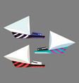 version sailing boat icons flat water vector image