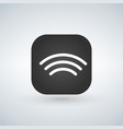wifi wireless network icons over app button vector image