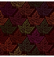 Autumn seamless leaf pattern 2 vector image