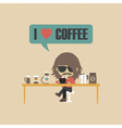 390coffee loverVS vector image vector image