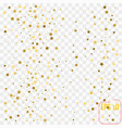 abstract white modern pattern with gold stars vector image vector image