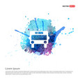 ambulance icon - watercolor background vector image vector image