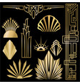 art decoart nuvo diy golden black elegant set of vector image vector image