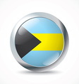 Bahamas flag button vector image vector image
