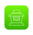 beekeeper icon green vector image vector image
