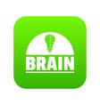 brain idea icon green vector image