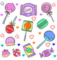 candy various cartoon doodle style vector image