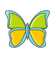 cartoon butterfly icon on white background vector image vector image
