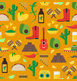 cartoon mexican culture background pattern vector image vector image