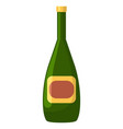 champagne or wine in bottle alcohol drink vector image vector image