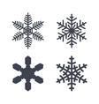 Christmas snowflakes isolated