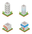 cityscape design elements with isometric building vector image